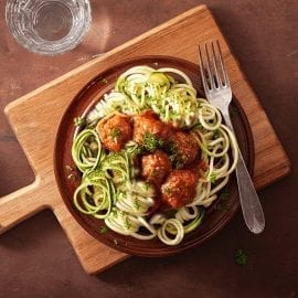 Zoodles with Meatballs